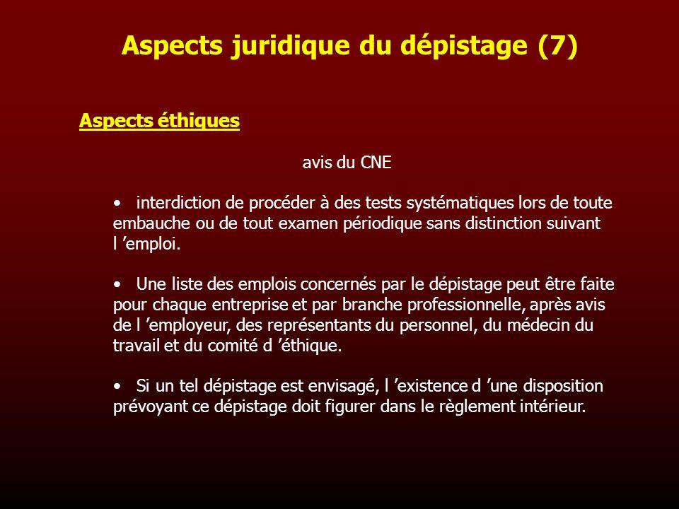 Aspects juridique du dépistage (7)