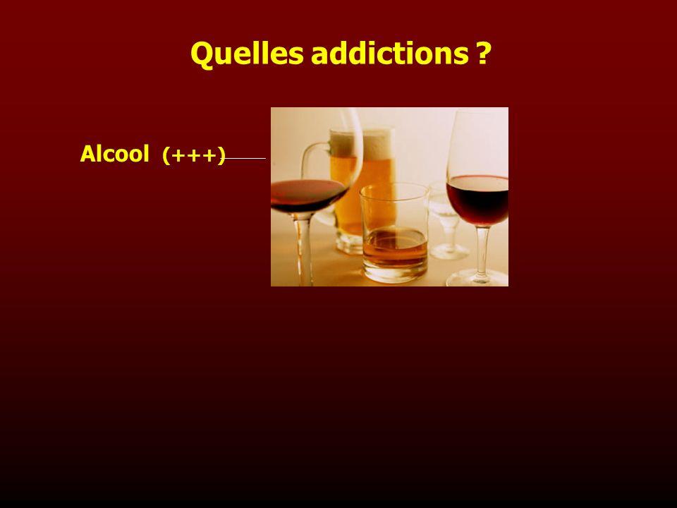 Quelles addictions Alcool (+++)