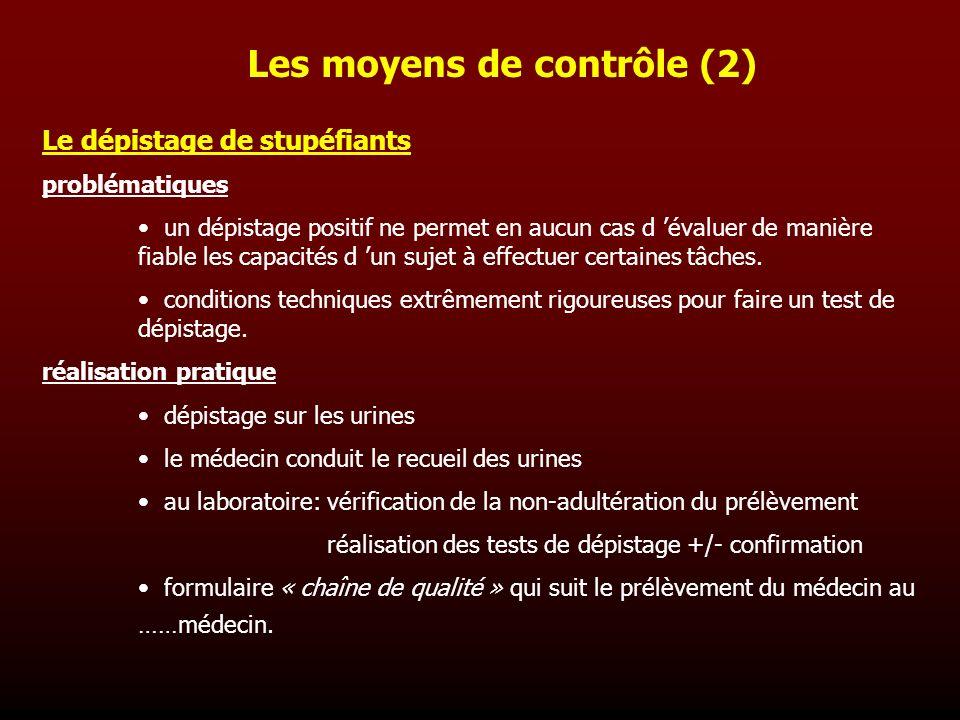 Les moyens de contrôle (2)