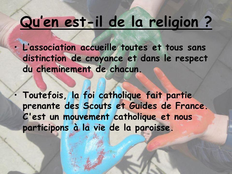 Qu'en est-il de la religion