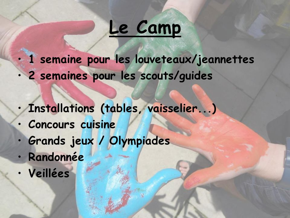 Le Camp 1 semaine pour les louveteaux/jeannettes