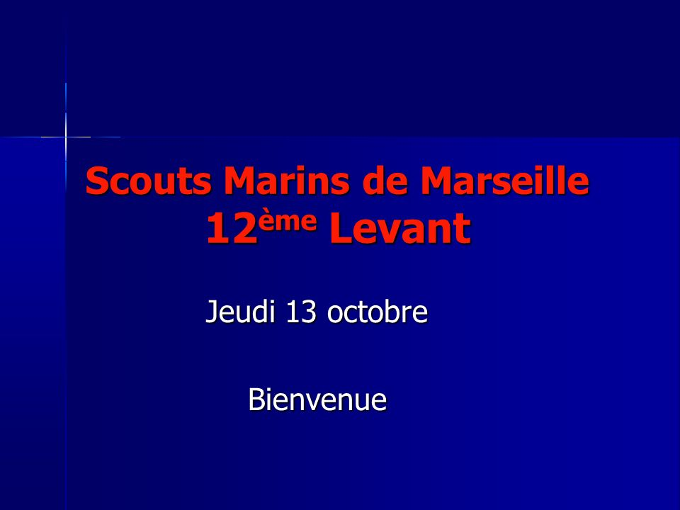 Scouts Marins de Marseille 12ème Levant