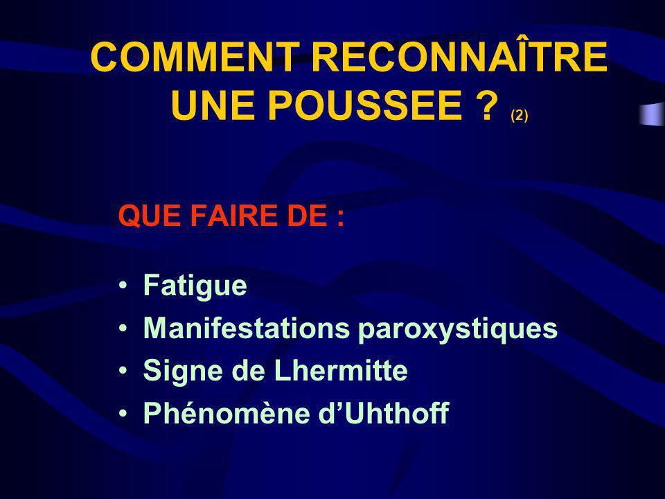 COMMENT RECONNAÎTRE UNE POUSSEE (2)