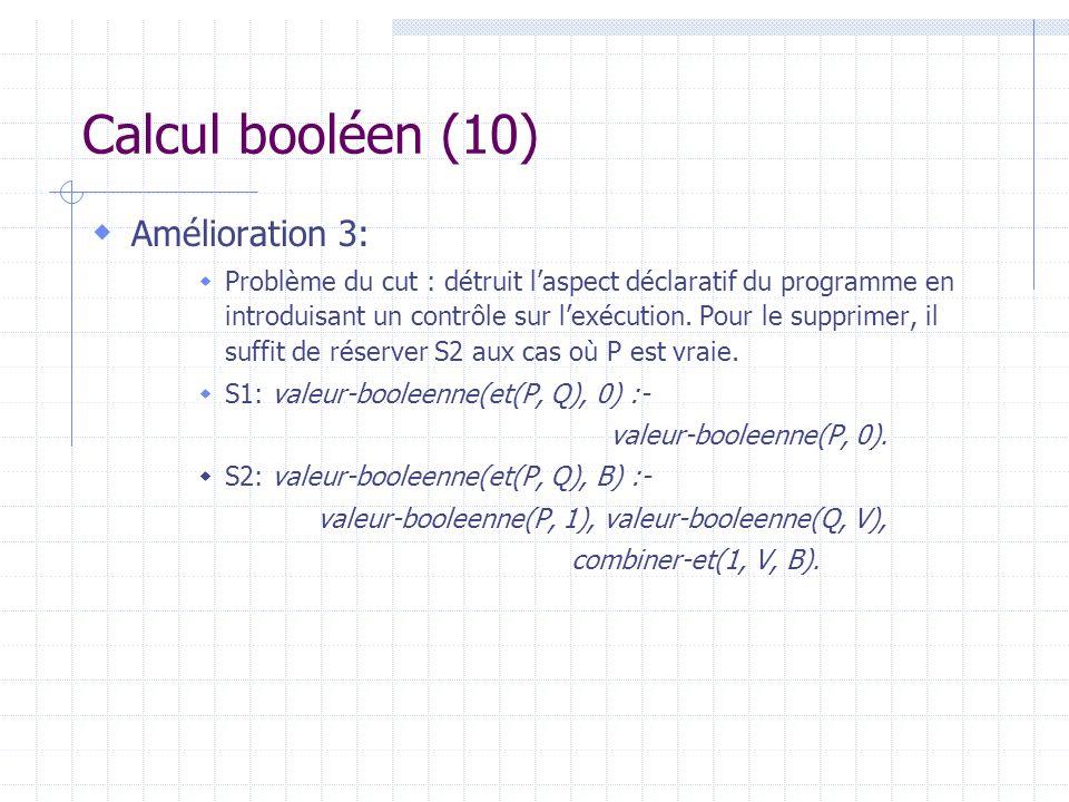 valeur-booleenne(P, 1), valeur-booleenne(Q, V),