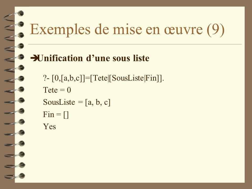 Exemples de mise en œuvre (9)