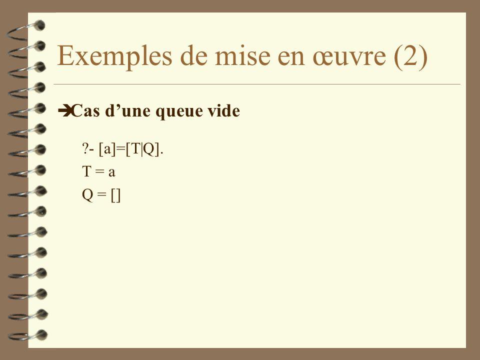 Exemples de mise en œuvre (2)