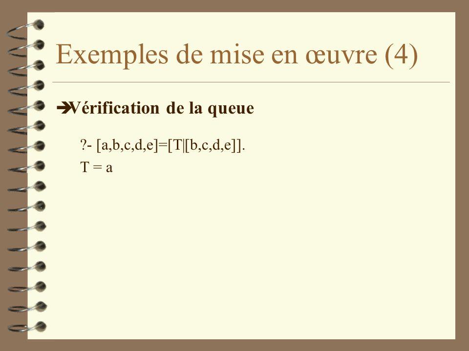 Exemples de mise en œuvre (4)