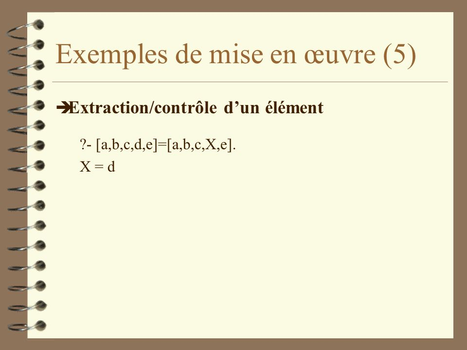 Exemples de mise en œuvre (5)