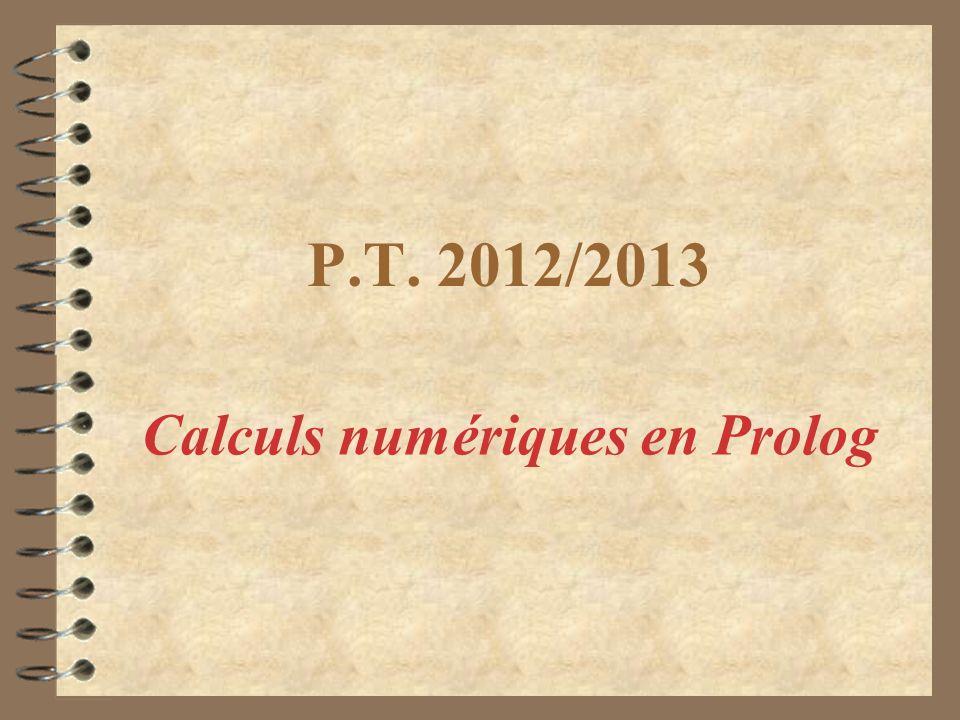 Calculs numériques en Prolog