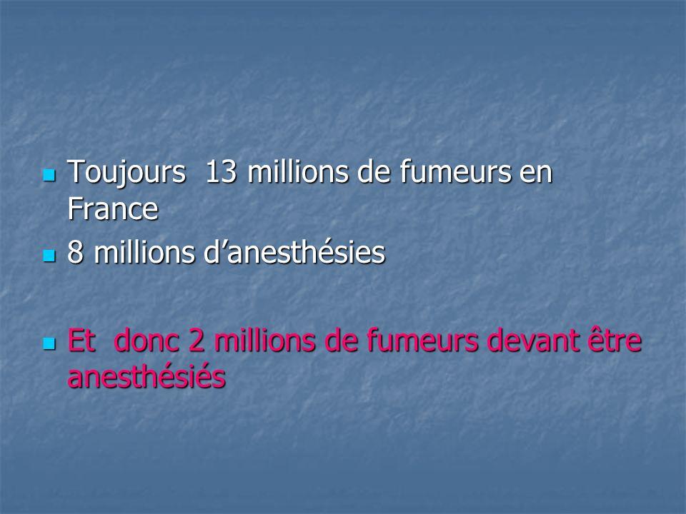 Toujours 13 millions de fumeurs en France