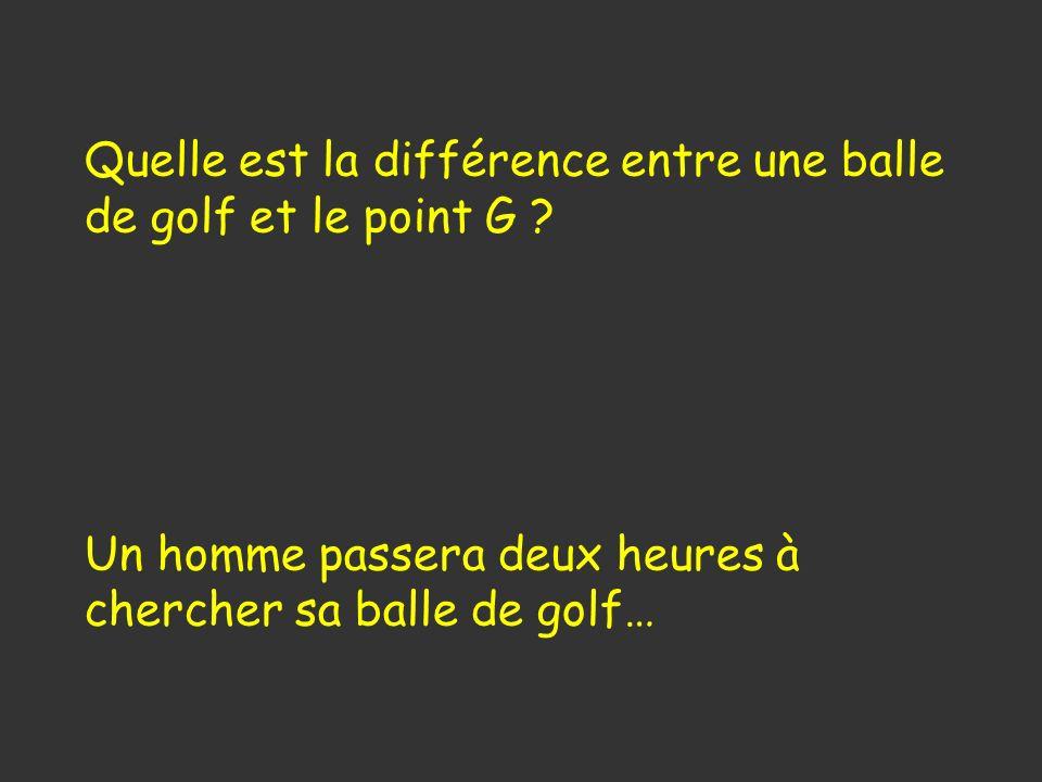 Quelle est la différence entre une balle de golf et le point G