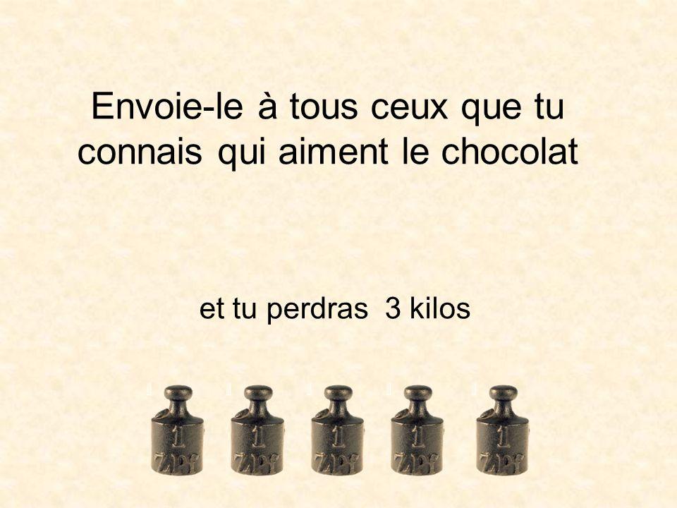 Envoie-le à tous ceux que tu connais qui aiment le chocolat