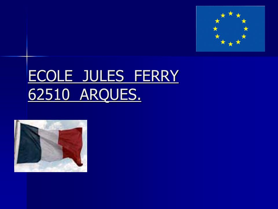 ECOLE JULES FERRY 62510 ARQUES.