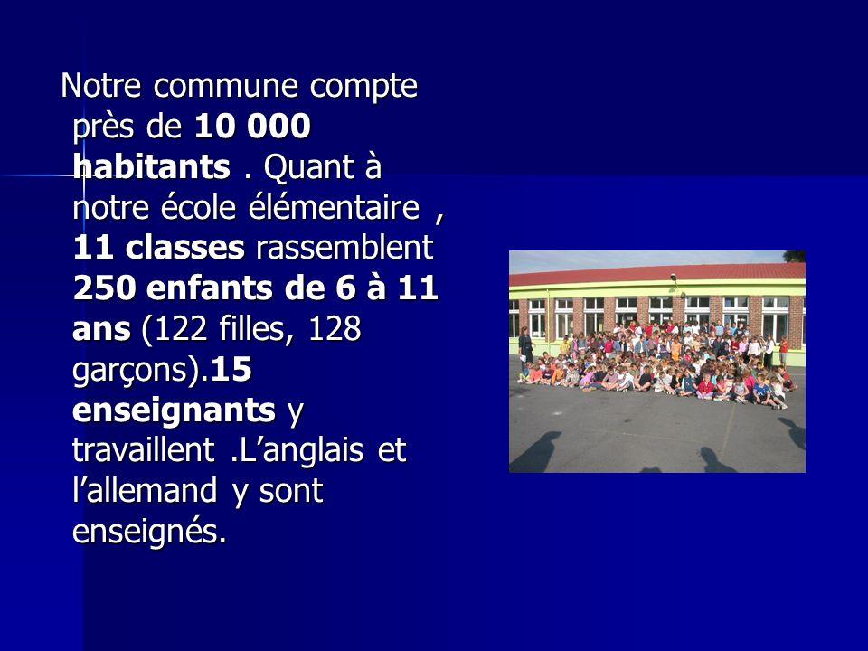 Notre commune compte près de 10 000 habitants