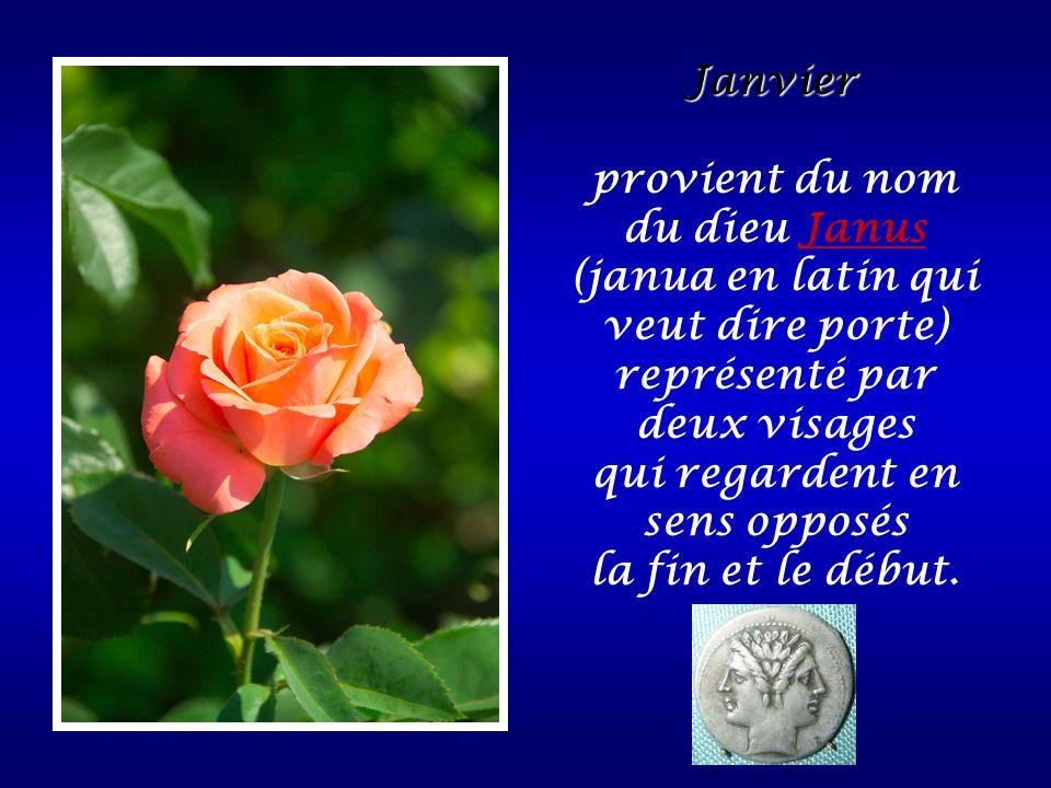 provient du nom du dieu Janus (janua en latin qui veut dire porte)