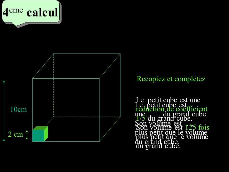 4eme calcul 4eme calcul Recopiez et complétez