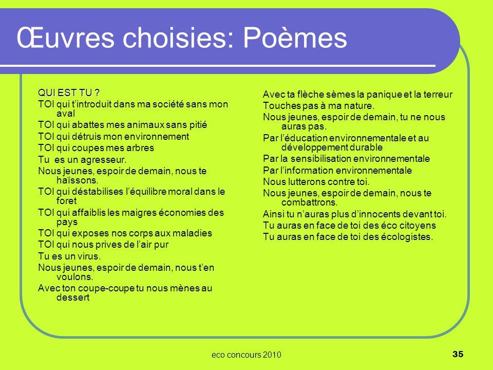 Œuvres choisies: Poèmes