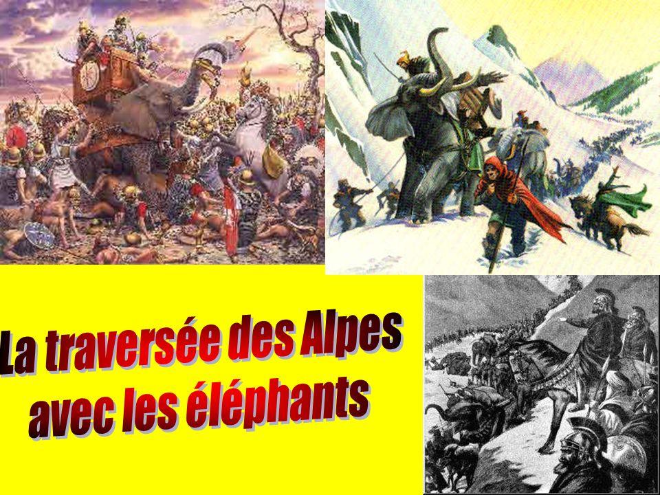 La traversée des Alpes avec les éléphants