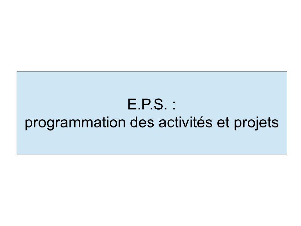 programmation des activités et projets
