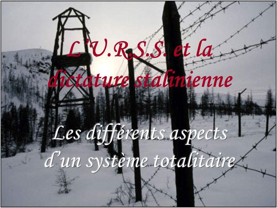 L'U.R.S.S. et la dictature stalinienne