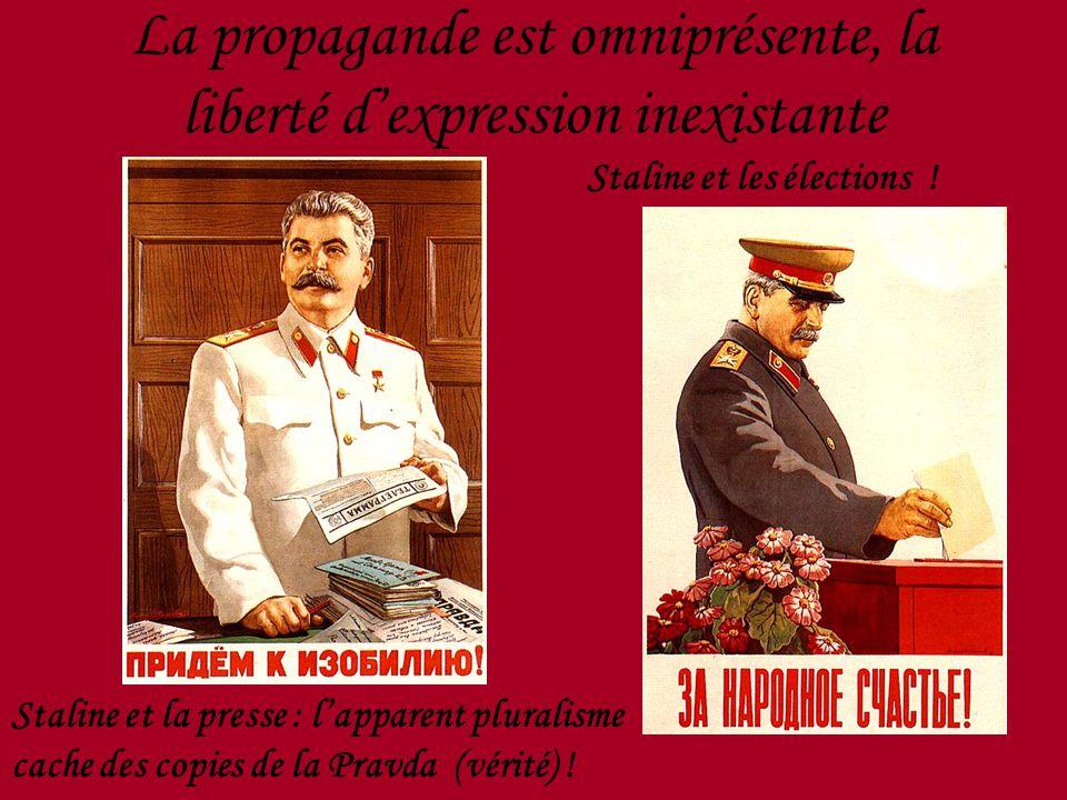 La propagande est omniprésente, la liberté d'expression inexistante
