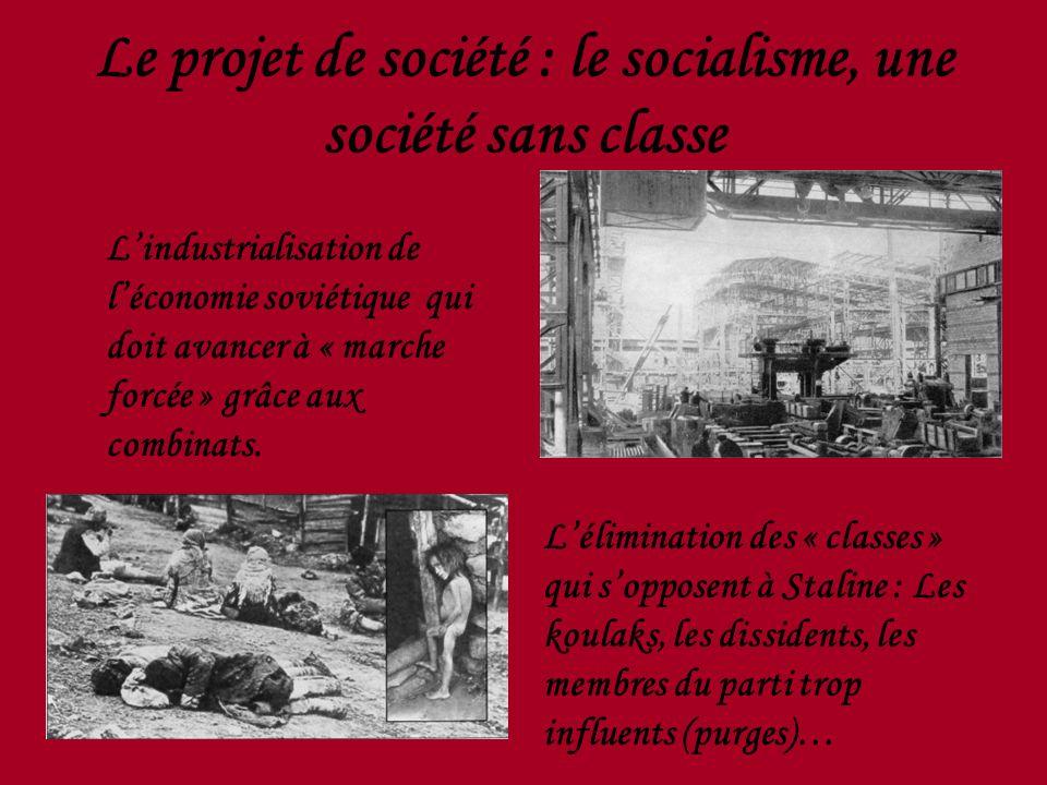 Le projet de société : le socialisme, une société sans classe