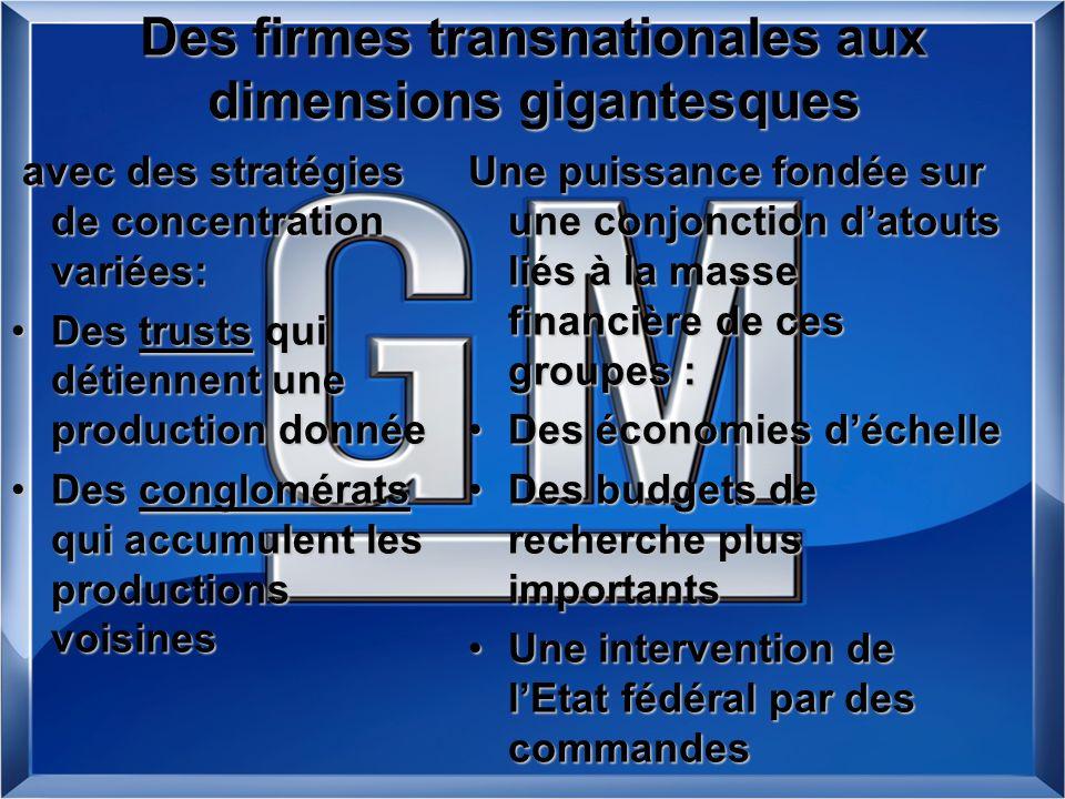 Des firmes transnationales aux dimensions gigantesques