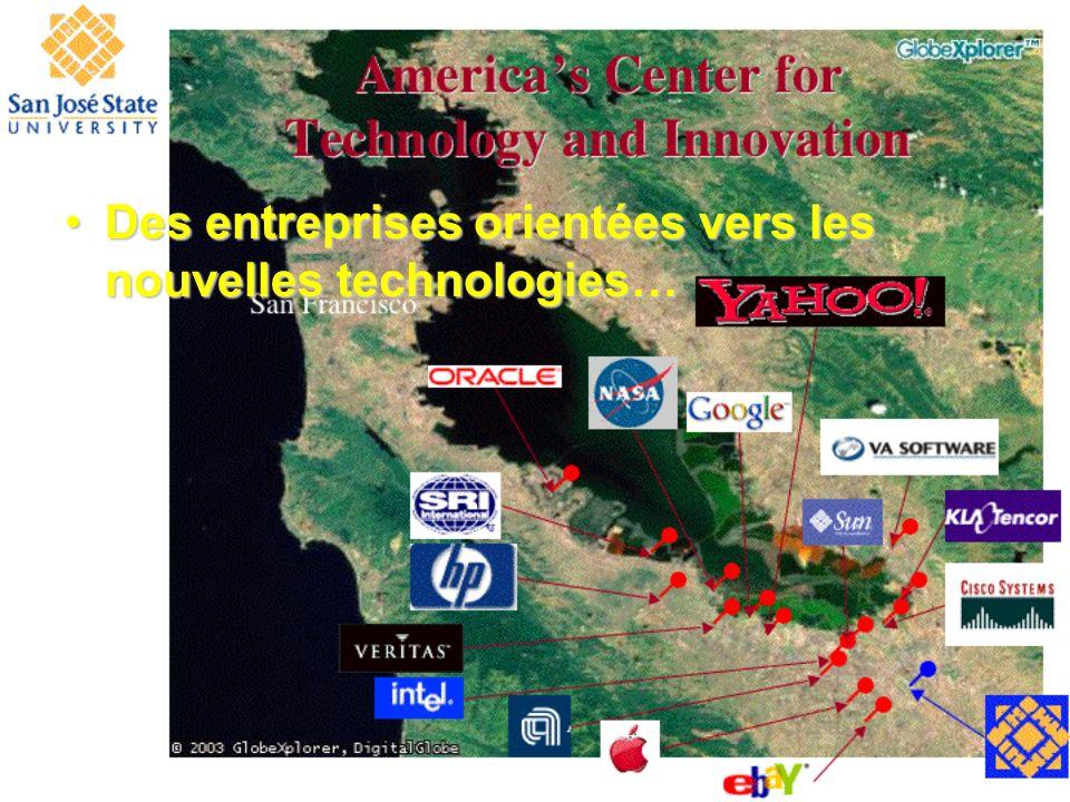 Des entreprises orientées vers les nouvelles technologies…