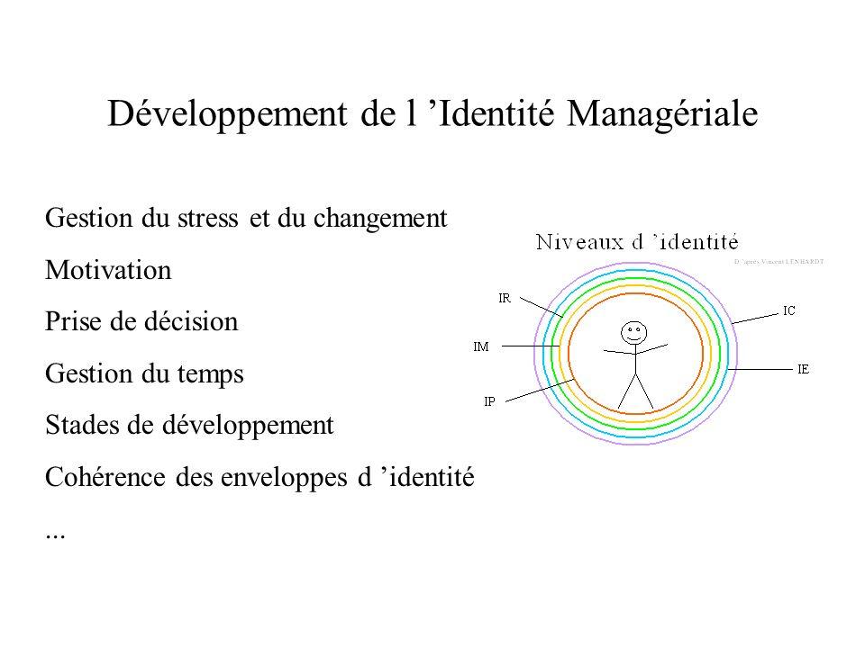 Développement de l 'Identité Managériale