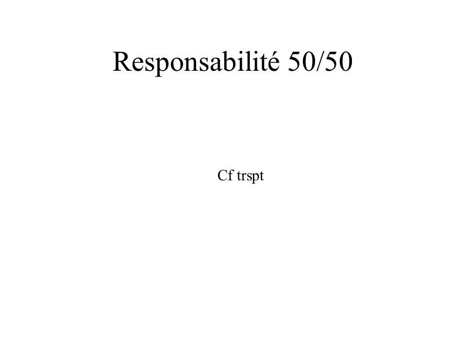 Responsabilité 50/50 Cf trspt