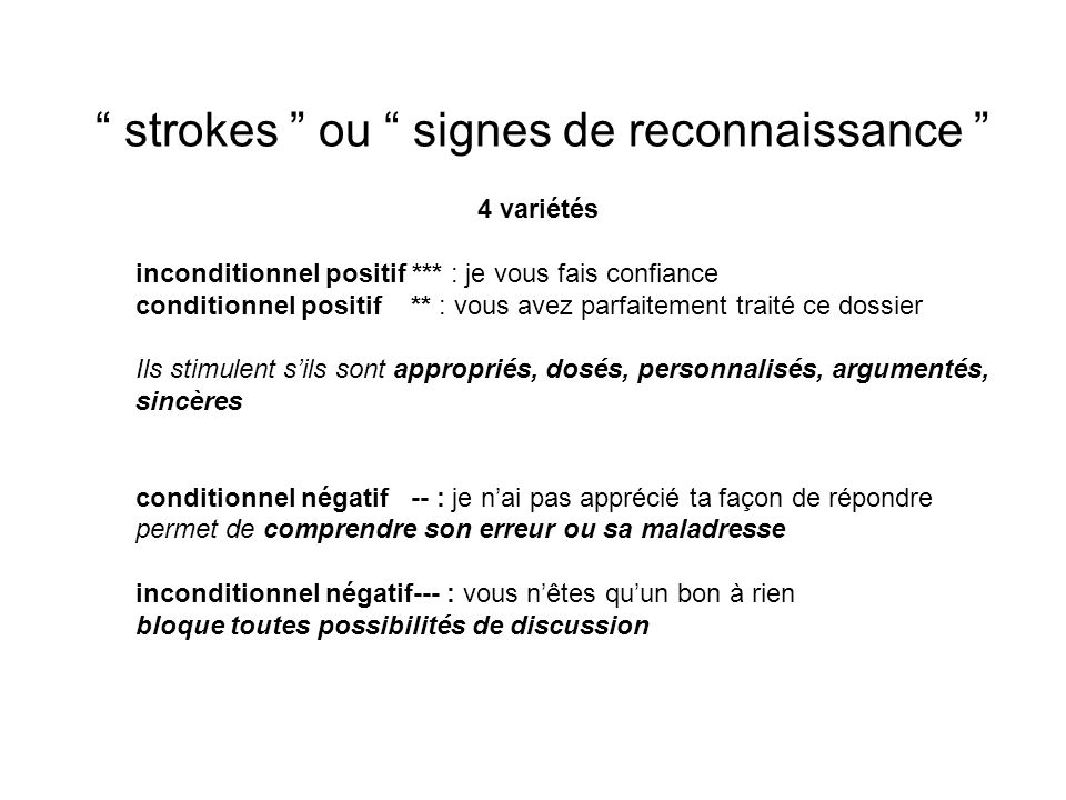 strokes ou signes de reconnaissance