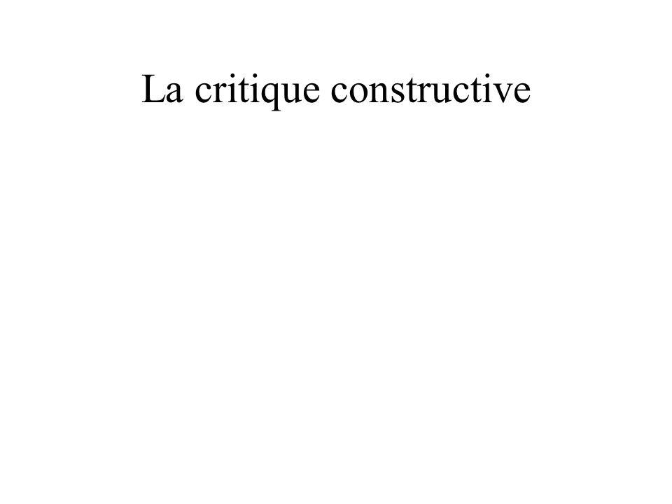 La critique constructive
