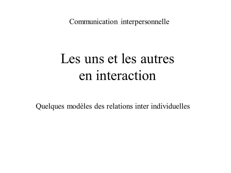 Les uns et les autres en interaction