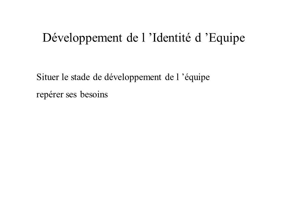 Développement de l 'Identité d 'Equipe