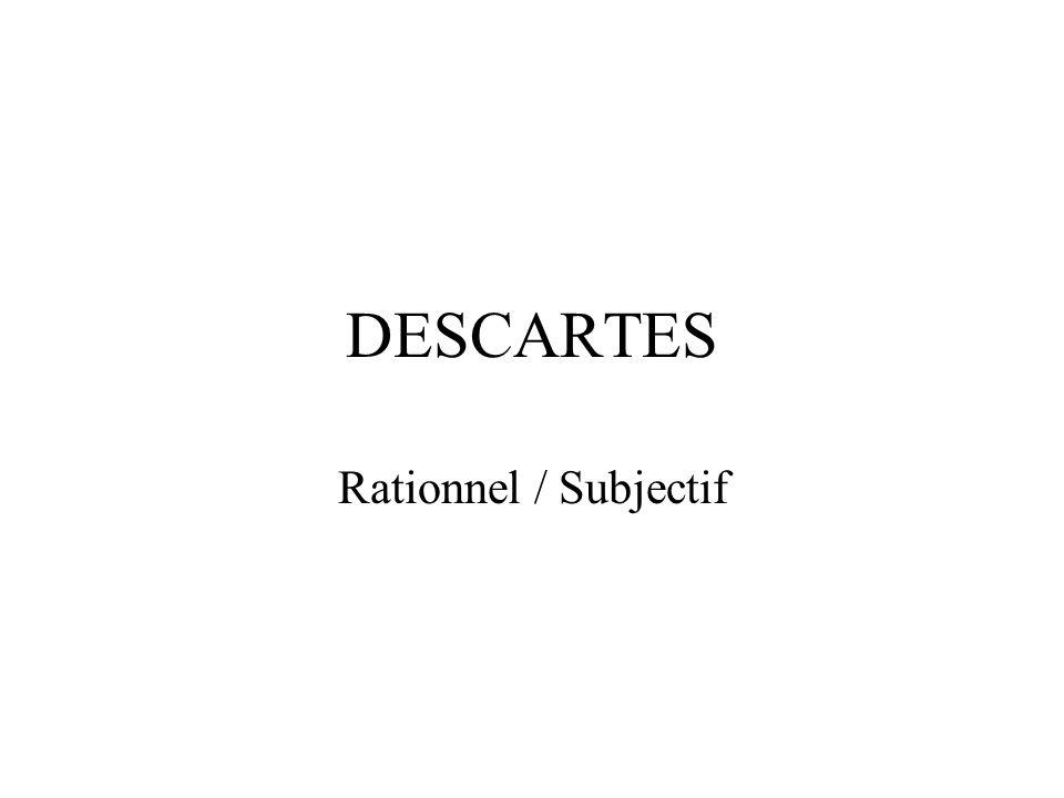 DESCARTES Rationnel / Subjectif