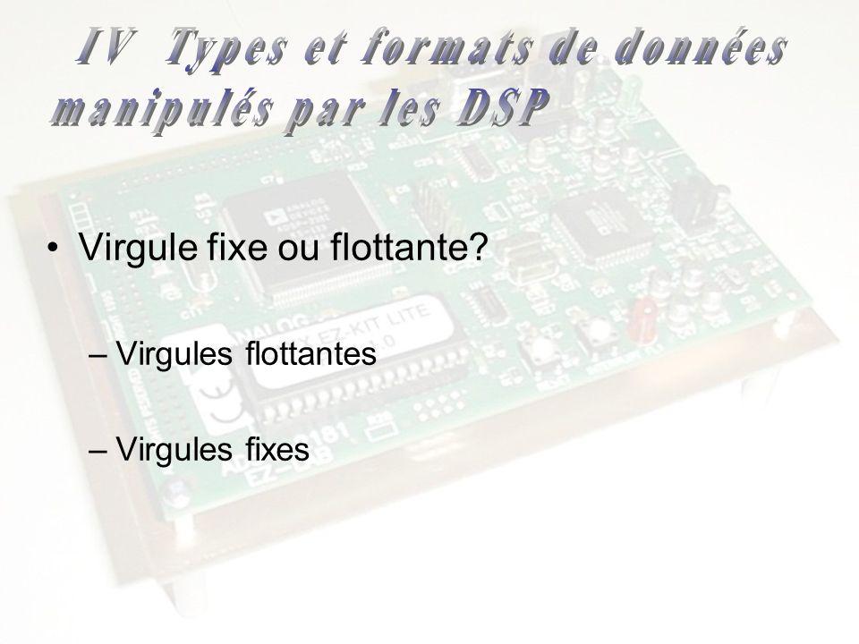 IV Types et formats de données