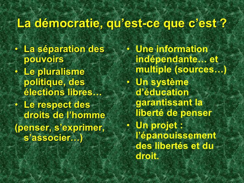 La démocratie, qu'est-ce que c'est
