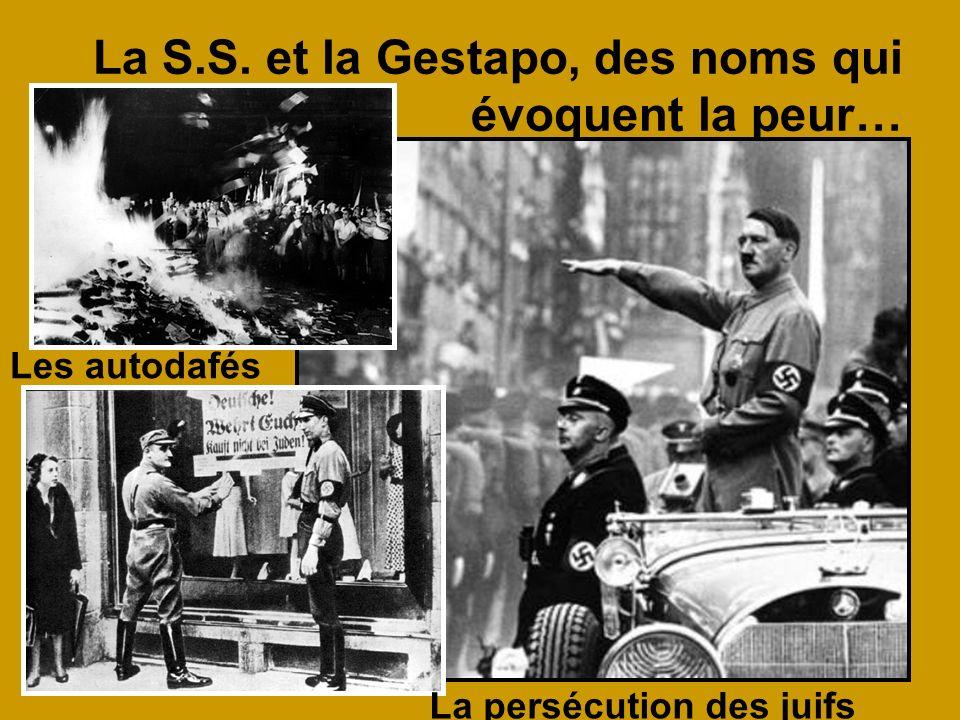 La S.S. et la Gestapo, des noms qui évoquent la peur…