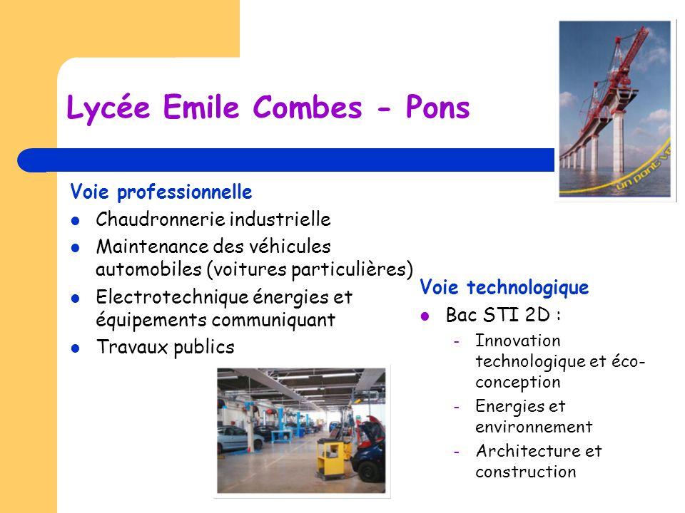 Lycée Emile Combes - Pons