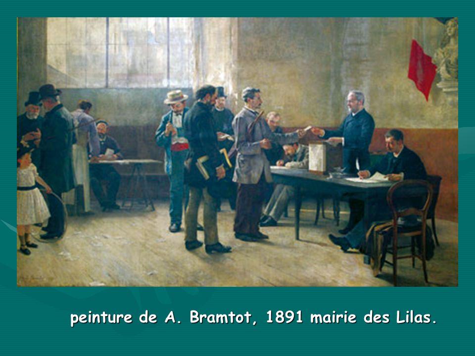 peinture de A. Bramtot, 1891 mairie des Lilas.
