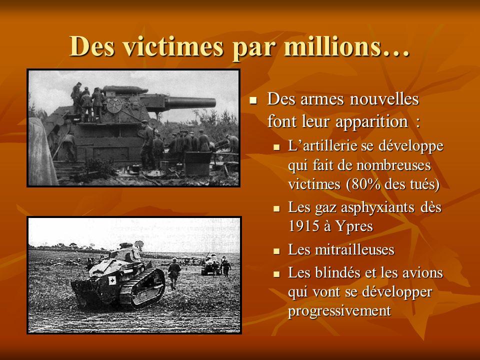 Des victimes par millions…