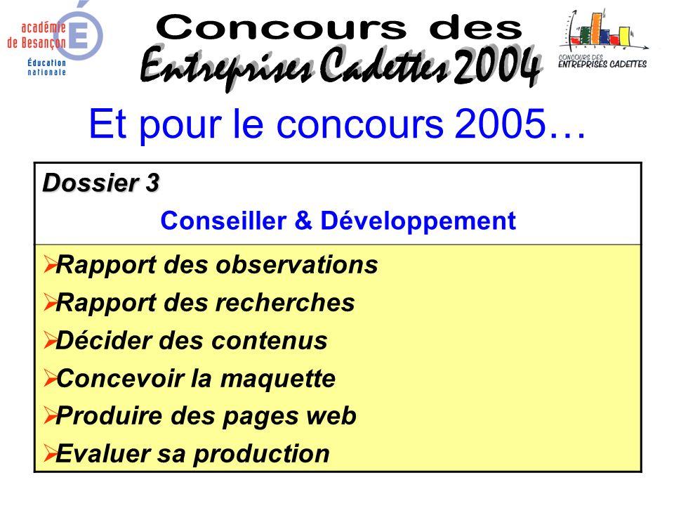 Conseiller & Développement