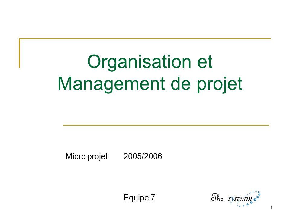 Organisation et Management de projet