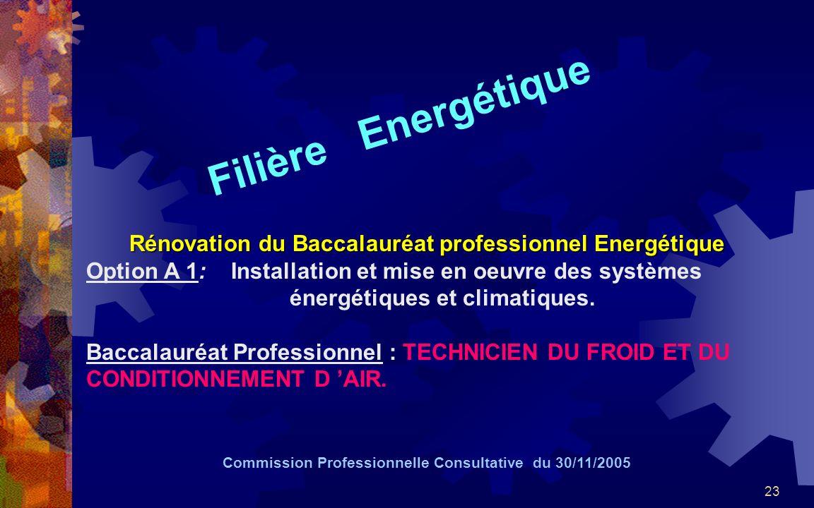 Rénovation du Baccalauréat professionnel Energétique