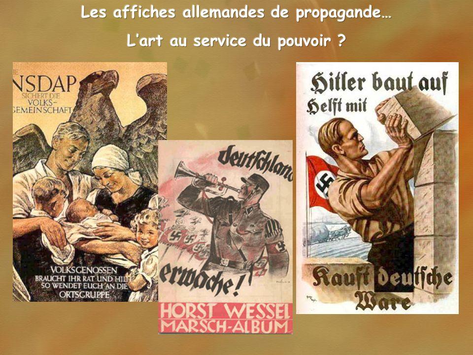 Les affiches allemandes de propagande… L'art au service du pouvoir