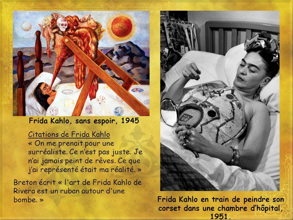 Frida Kahlo, sans espoir, 1945