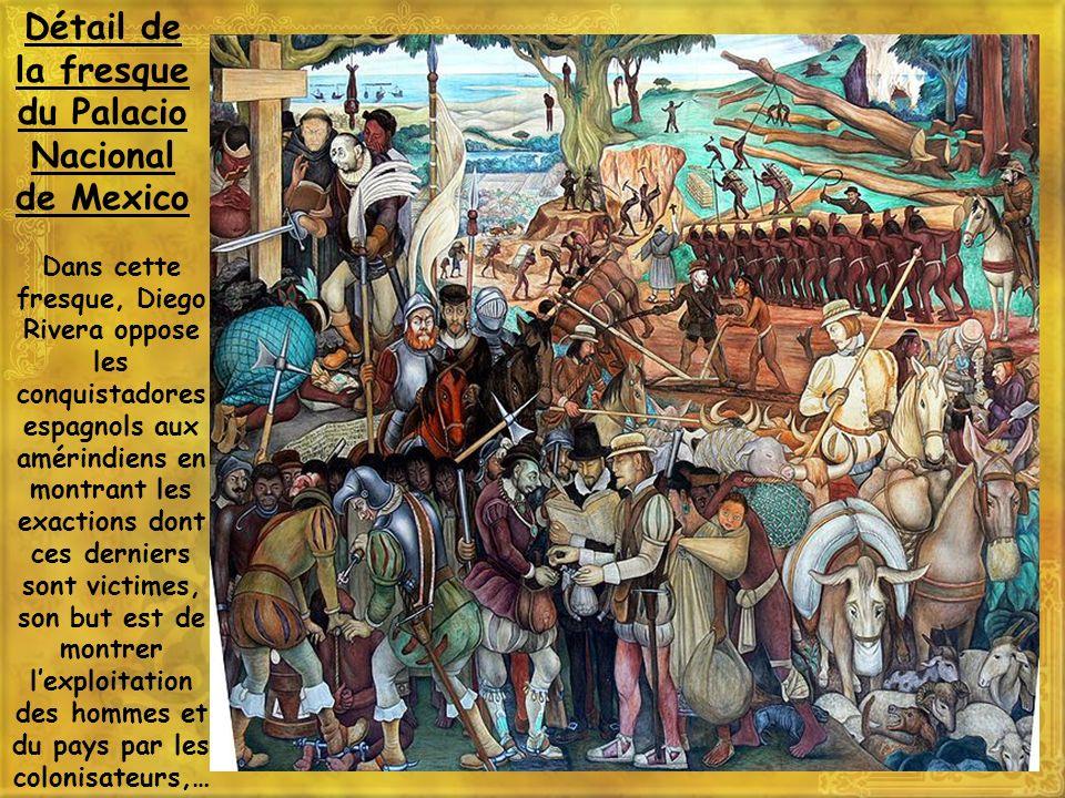 Détail de la fresque du Palacio Nacional de Mexico