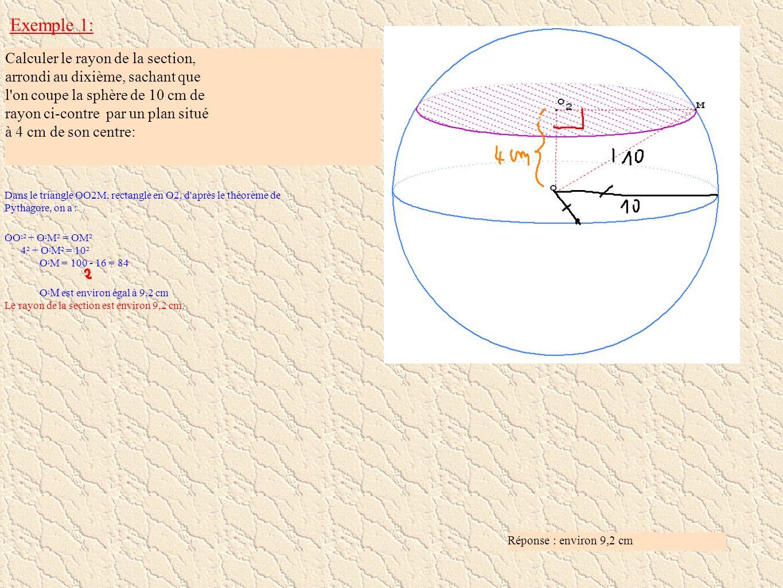 Exemple 1: Calculer le rayon de la section,