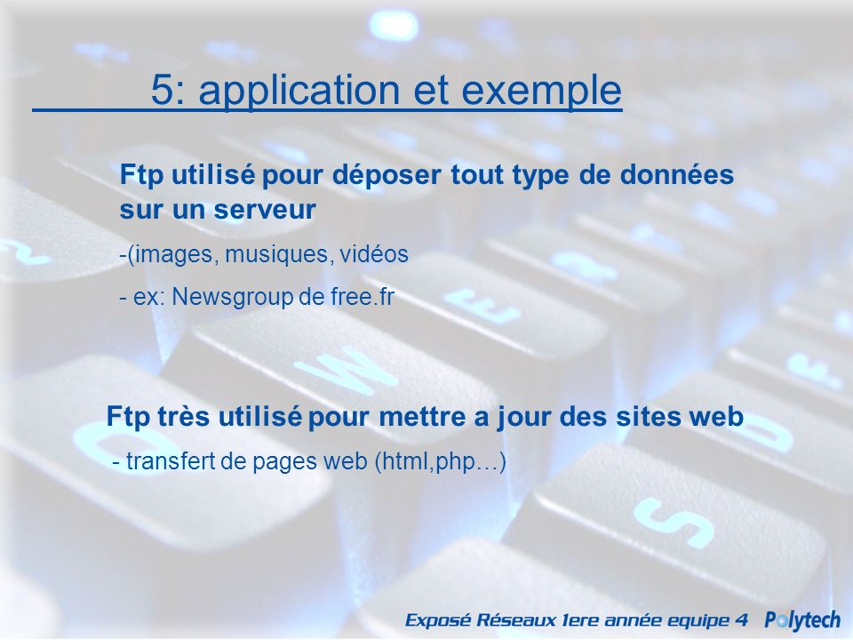 5: application et exemple