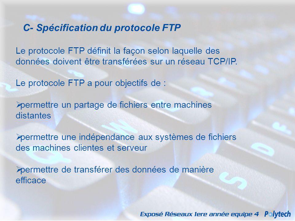 C- Spécification du protocole FTP